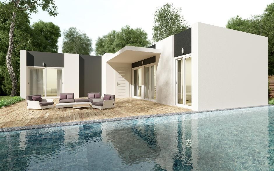 I-2074 Casa unifamiliar 3 dormitorios con picina a 2 km de la playa