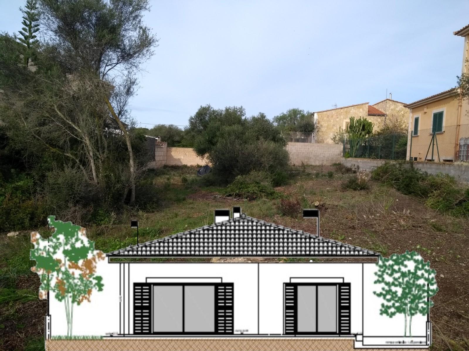 I-2253 Grundstück 600m² mit Bau eines Einfamilienhauses von 145 m² und Pool
